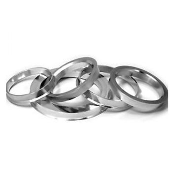 Set of 4 Custom Made Forged Aluminium Spigot Rings